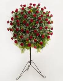 71 adet kırmızı gülden ferförje çiçeği  İzmir Konak çiçek servisi , çiçekçi adresleri