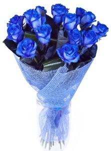 12 adet mavi gül buketi  İzmir Konak ucuz çiçek gönder