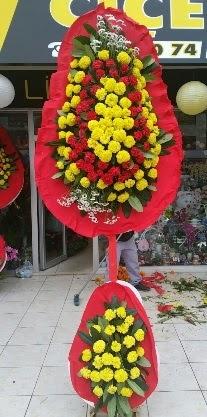 Çift katlı düğün nikah açılış çiçeği  İzmir Konak çiçekçi telefonları