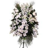İzmir Konak İnternetten çiçek siparişi  Ferforje beyaz renkli kazablanka