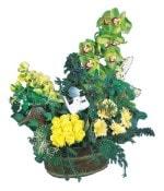 İzmir Konak online çiçekçi , çiçek siparişi  Dal orkide, sari gül ve gerberalar
