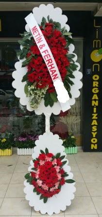 Çift katlı düğün nikah çiçeği modeli  İzmir Konak çiçek mağazası , çiçekçi adresleri