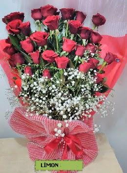Kız isteme buket çiçeği 33 kırmızı gül  İzmir Konak anneler günü çiçek yolla