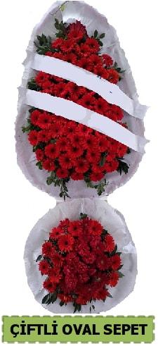 Çift katlı oval düğün nikah açılış çiçeği  İzmir Konak online çiçek gönderme sipariş
