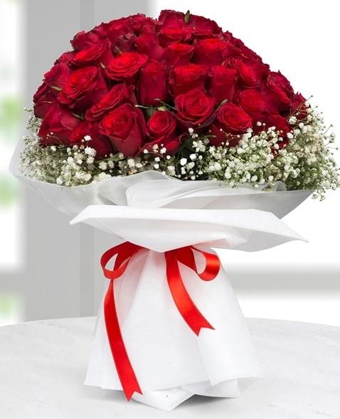 41 adet kırmızı gül buketi  İzmir Konak 14 şubat sevgililer günü çiçek  süper görüntü