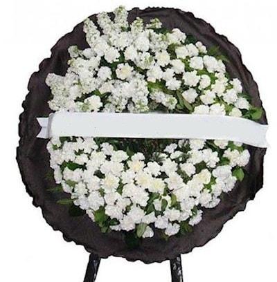 Cenaze çelengi çiçeği modelleri  İzmir Konak kaliteli taze ve ucuz çiçekler