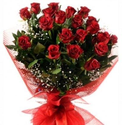 Kız isteme buketi çiçeği sade 27 adet gül  İzmir Konak online çiçek gönderme sipariş