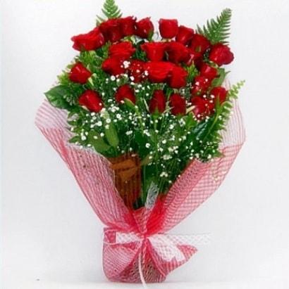 Kız isteme buketi çiçeği sade 29 adet gül  İzmir Konak uluslararası çiçek gönderme