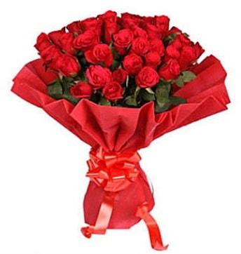 41 adet gülden görsel buket  İzmir Konak 14 şubat sevgililer günü çiçek