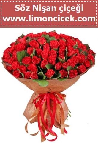 Kız isteme söz nişan çiçeği 101 gül  İzmir Konak online çiçek gönderme sipariş