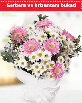 Papatya ve Gerbera Buketi  İzmir Konak anneler günü çiçek yolla