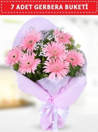 Pembe Gerbera Buketi  İzmir Konak anneler günü çiçek yolla