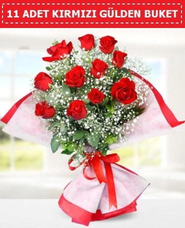 11 Adet Kırmızı Gül Buketi  İzmir Konak yurtiçi ve yurtdışı çiçek siparişi