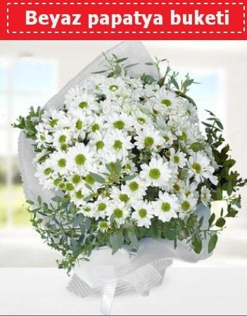 Beyaz Papatya Buketi  İzmir Konak çiçek gönderme