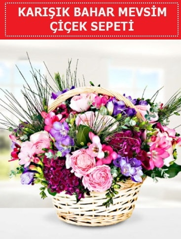 Karışık mevsim bahar çiçekleri  İzmir Konak hediye sevgilime hediye çiçek