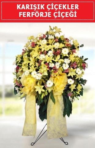Karışık mevsim çiçeklerinden ferförje  İzmir Konak kaliteli taze ve ucuz çiçekler