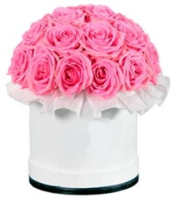 özel kutuda 20 adet pembe gül  İzmir Konak online çiçek gönderme sipariş