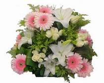 İzmir Konak çiçekçi mağazası  Gül kazablanka gerbera sepet çiçek modeli