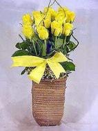 İzmir Konak internetten çiçek satışı  sicak ates çiçek sepet modeli