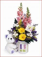 İzmir Konak İnternetten çiçek siparişi  Kupa bardak ayicik ve çiçek